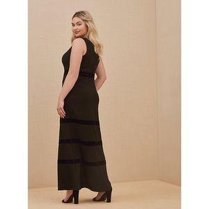 🆕 Special Occasion Scuba Knit Velvet Stripe Gown